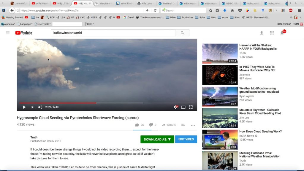 "Geo Engineering vocab & Kafka Winston World SCORE ""Hygroscopic cloud seeding"""
