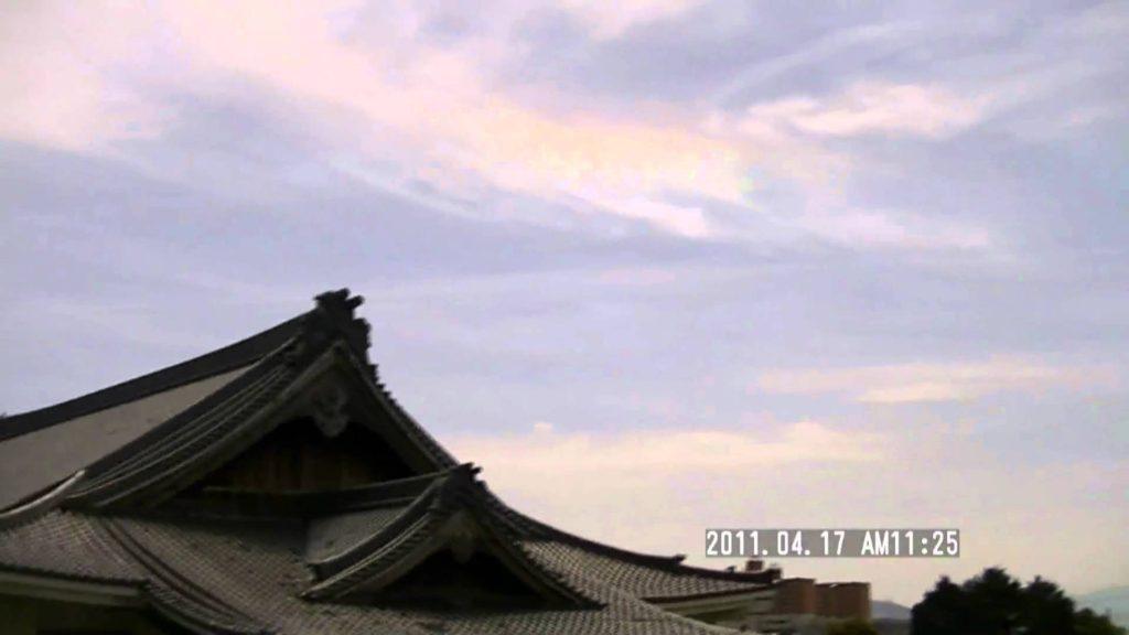 japan osaka chemical trail (変化後) ケムトレイル?