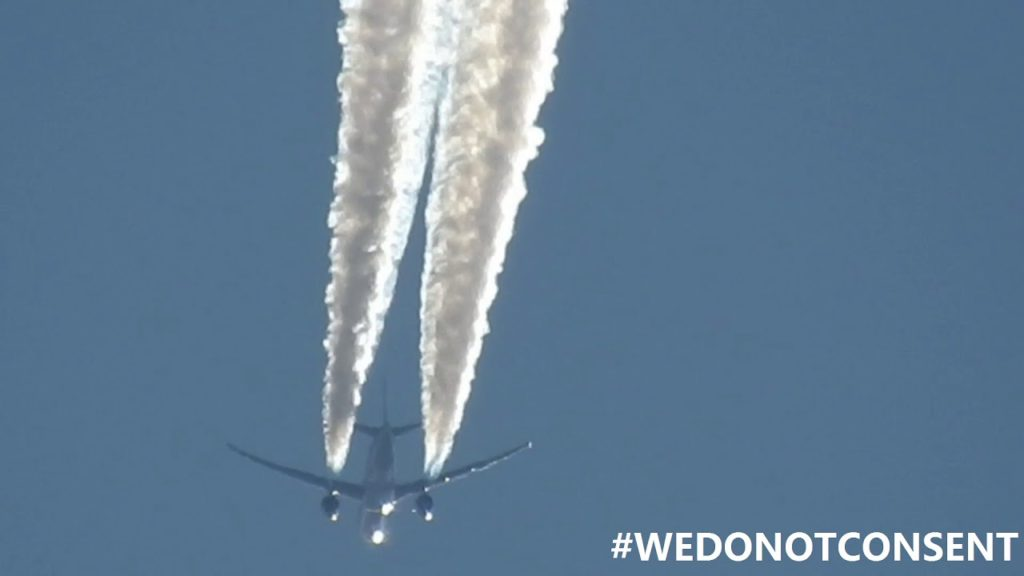 Swiss Air Lines Dumping Toxic Chemicals 'Geoengineering' #WEDONOTCONSENT