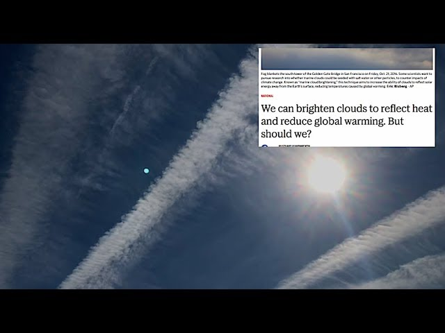 Colossal geo-engineering event dominates entire sky | Just wow..