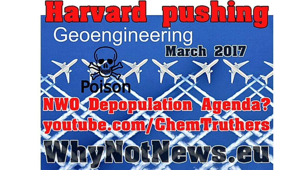 Harvard pushing 'Solar GeoEngineering 2017' Chemtrails coordinated by Nato?