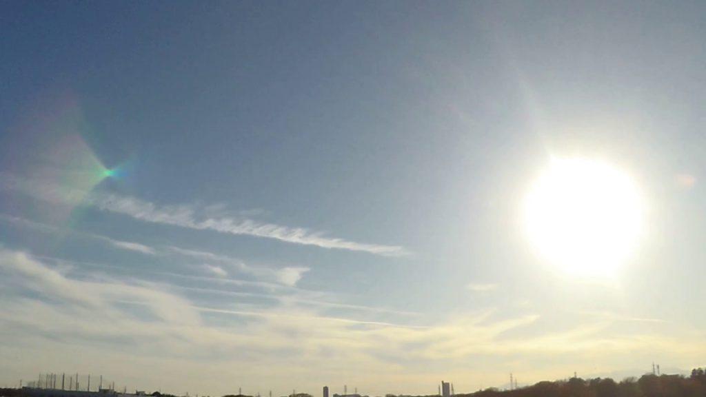 ケムトレイル2017年12月12日埼玉県新座市上空その1