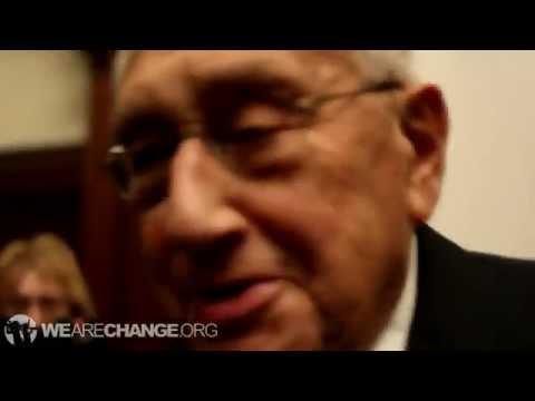 戦争犯罪人ヘンリー・キッシンジャー容疑者と対決 ビルダーバーグ #kissinger #bilderberg