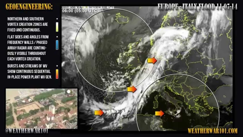 Geoengineering: Europe – Italy Flood 11-17-14