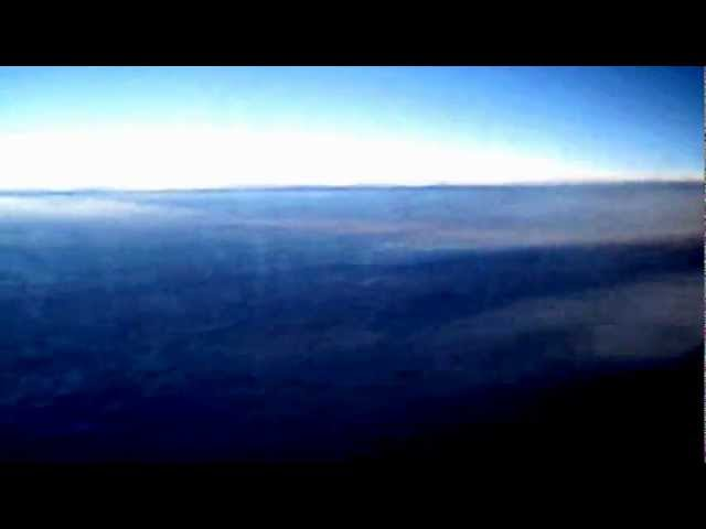 Real chemtrails (chemical trail)  plane view – Scie chimiche vere viste dall'interno aereo
