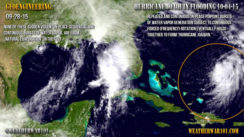 Geoengineering: Joaquin – Carolina Flooding