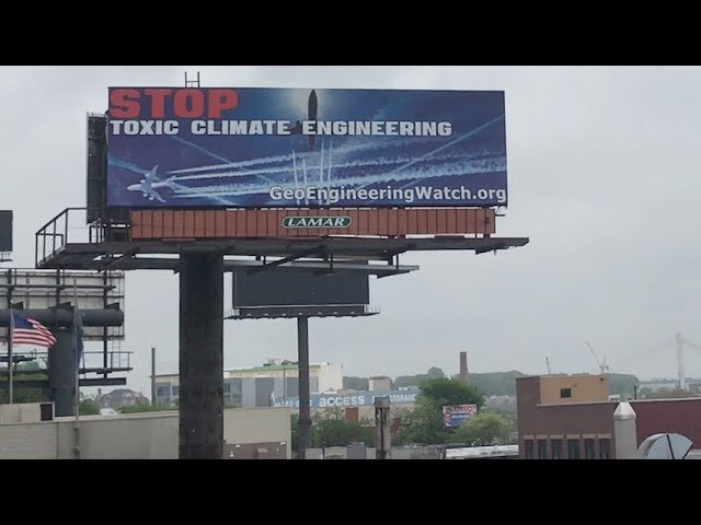 First Anti-Geoengineering Billboard Goes Up In New York City