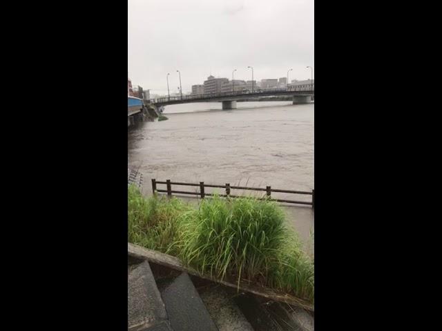 2018年7月6日 異常気象 ケムトレイル人工気象操作か?  福岡市東区の大雨警戒情報