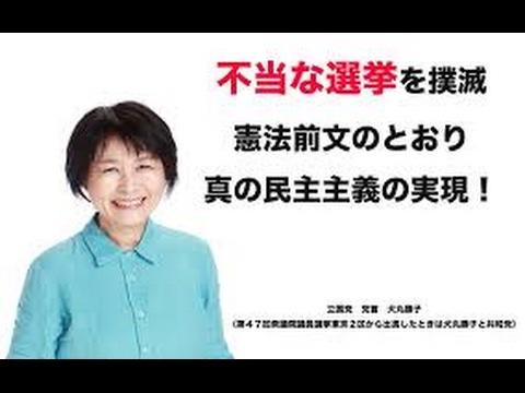 【動画あり】不正選挙追及!犬丸勝子さんの訃報。。