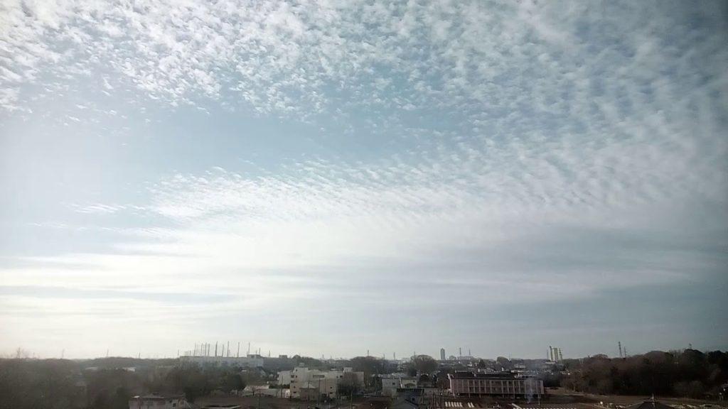 波状のケムトレイル雲は電磁波照射との複合作用か?2019.1.10