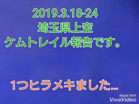 2019.3.18-24 埼玉県上空 ケムトレイル報告です。1つヒラメいちゃいました…