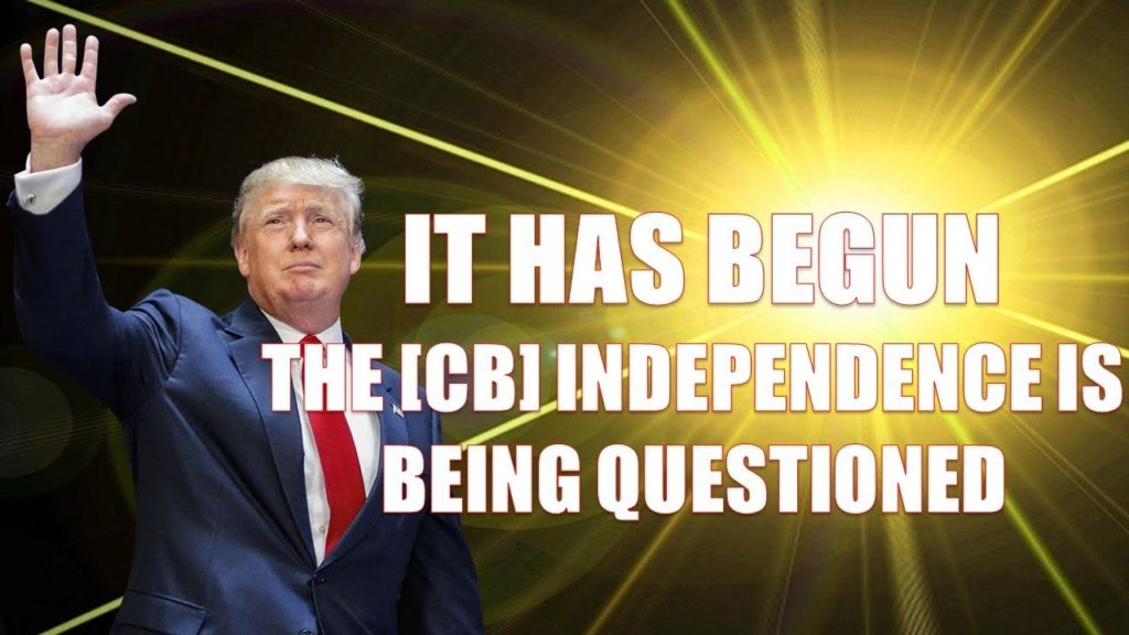 Q anon It Has Begun, The [CB] Independence Is Being Questioned, President Trump Called Truce