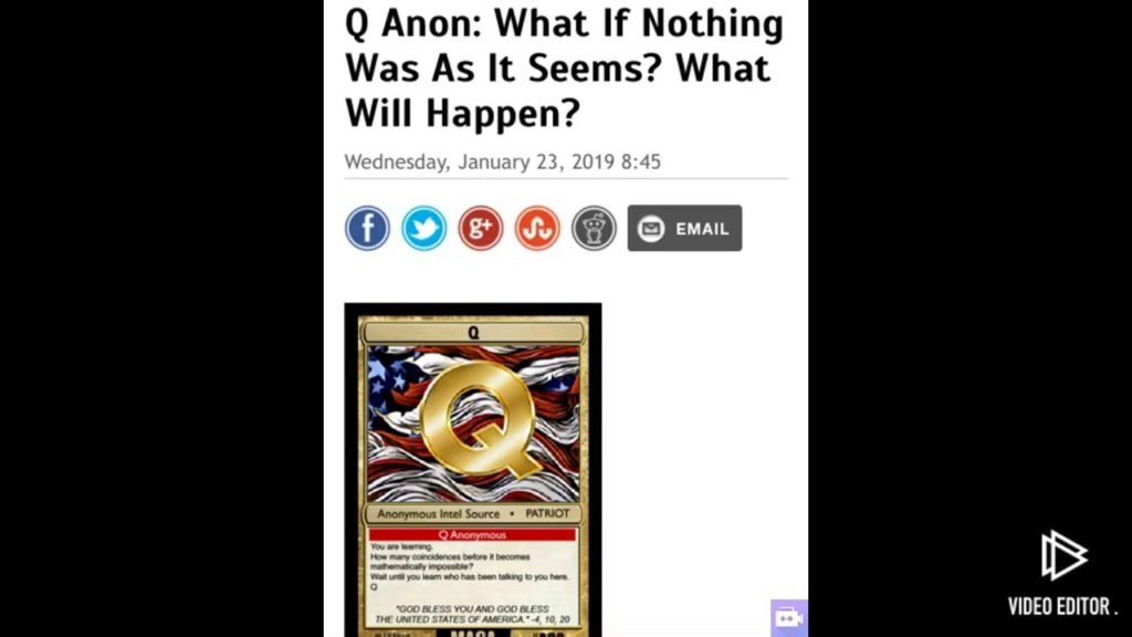 Q anon: What if nothing was as it seems? What will happen?!