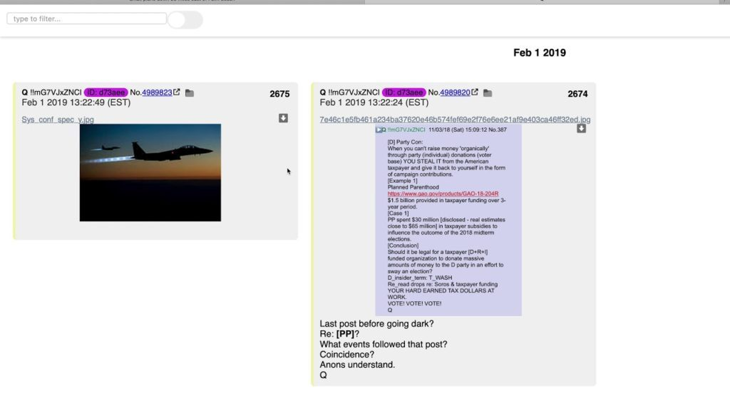 Q Anon update 2-1-19.  Did US Air Force F15's shoot down a small plane off the coast of Florida?