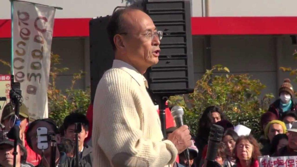 12.7「大デモ」での孫崎享さん