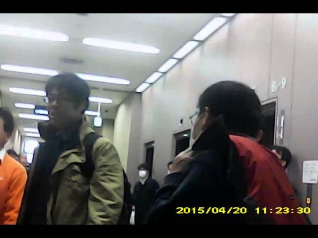 不正選挙裁判20150420_4F廊下②