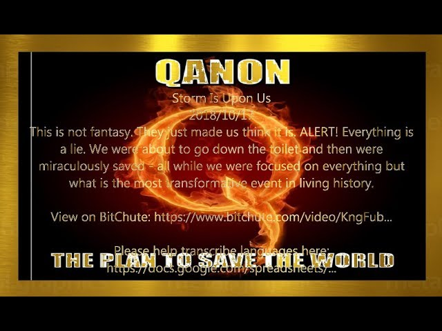 Qanon 2018-10  We Are The Plan 〈Japanese〉少しでも多くの方に、、、この事を、、、
