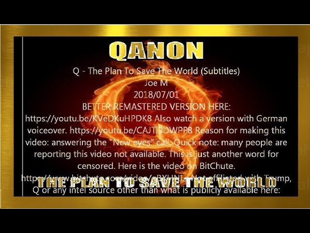 Qanon 2018-07 The plan to save the world〈Japanese〉