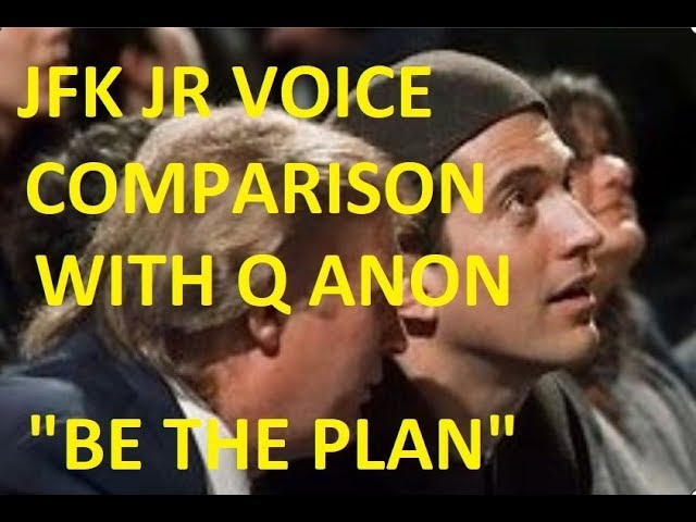 IS JFK JR ALIVE? Voice Comparison With Q Anon Video