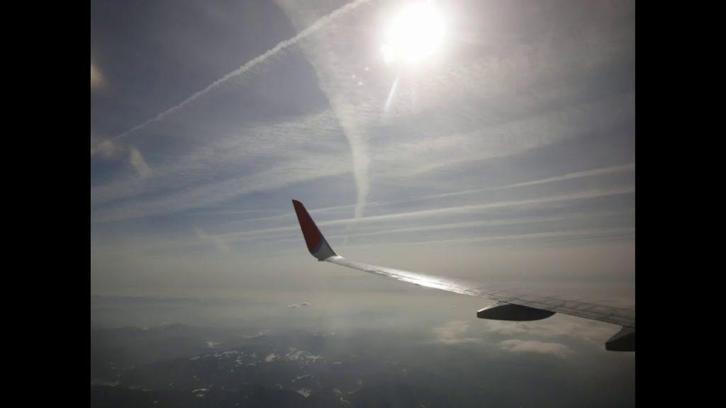 ケムトレイル 飛行機より撮影