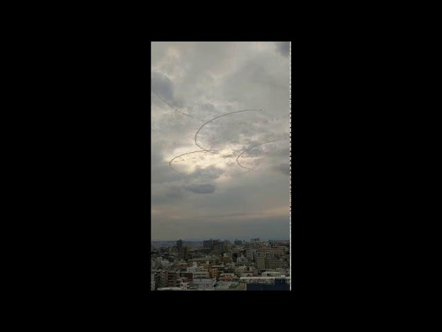 超低空でジェット機が編隊を組みケムトレイル散布か! 2019.9.21