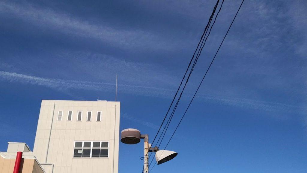 今日もやっぱり瀑撒きでしたー!ケムトレイル埼玉県