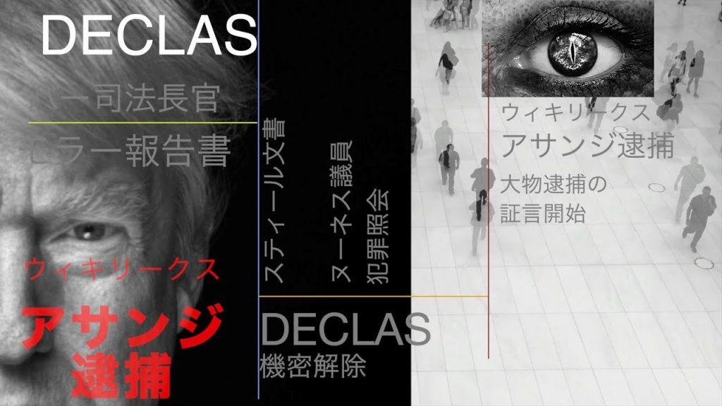 2019都市伝説 アサンジ逮捕 モラー報告書公開 DECLAS