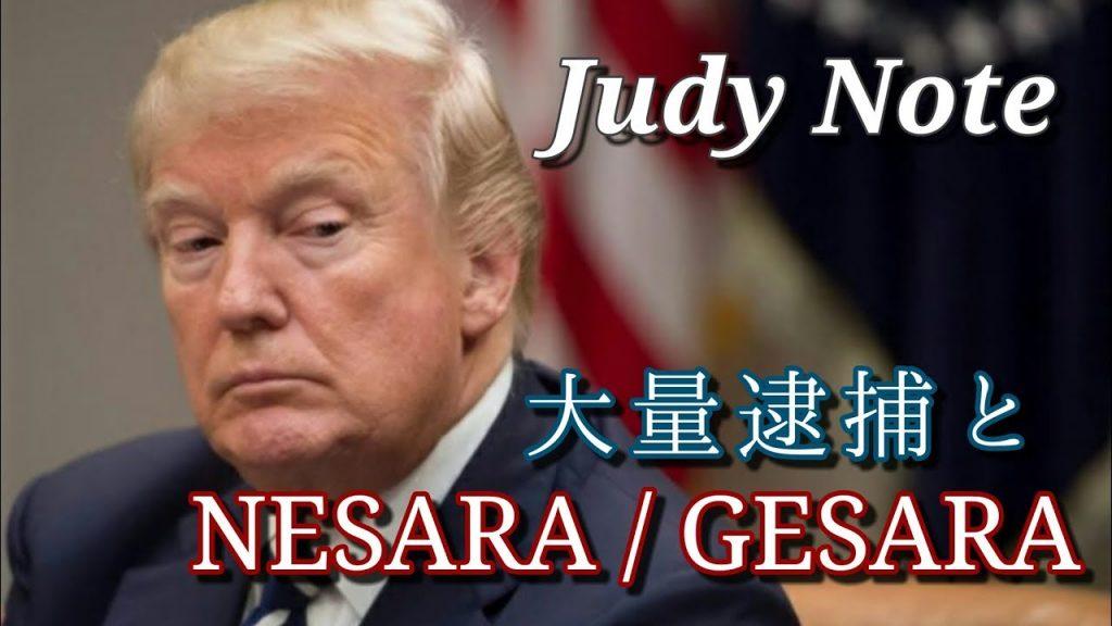 ジュディノート『大量逮捕とNESARA/GESARA』