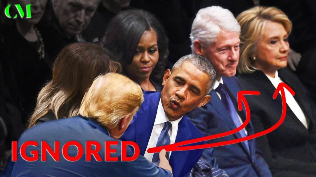 Trump at The Bush Funeral – Here's What REALLY Happened