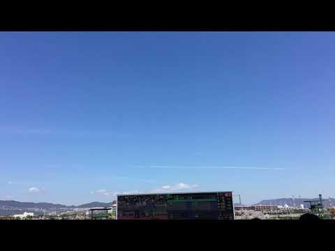 4月13日  宝塚市内上空 ケムトレイル